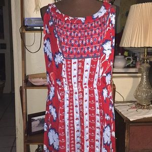 Style & Co multi-colored sleeveless dress SZ XL